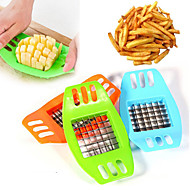 cheap Kitchen Tools-1Pc Stainless Steel Vegetable Potato Vertical Slicer Cutter Chopper Fries Chips Maker Potato Cutting Tool