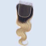 8 cali 1b / 613 ombre kolor ciemne korzenie ciało fala 4 * 4 koronka top zamknięcie dla kobiet 100% moda popularne remy dziewiczych
