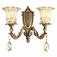 baratos Arandelas de Parede-ZHISHU Rústico / Campestre / Retro / Vintage Luminárias de parede Sala de Estar / Quarto / Interior Metal Luz de parede IP20 110-120V /