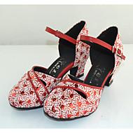 billige Moderne sko-Dame Moderne Glimtende Glitter Høye hæler Innendørs Høy Hæl Grå Rød Kan spesialtilpasses