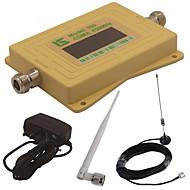 mini intelligent LCD-skjerm cdma980 850mhz mobiltelefon signal booster repeater med utendørs sucker antenne / innendørs pisk antenne gul