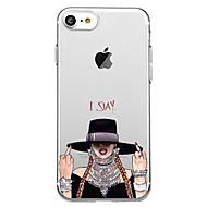 billiga Mobil cases & Skärmskydd-fodral Till Apple iPhone 8 iPhone 8 Plus Mönster Skal Sexig kvinna Mjukt TPU för iPhone X iPhone 8 Plus iPhone 8 iPhone 7 Plus iPhone 7