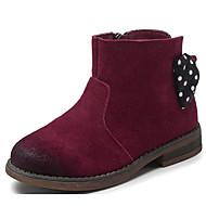 女の子 靴 スエード レザー 秋 冬 コンフォートシューズ ブーツ 用途 カジュアル ブラック キャメル バーガンディー