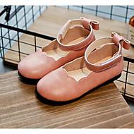 baratos Sapatos de Menina-Para Meninas Sapatos Couro Ecológico Primavera Conforto Rasos para Branco / Preto / Rosa claro