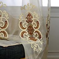 Propp Topp Dobbelt Plissert Blyant Plissert Window Treatment Midlertidig Moderne , Blomstret Geometrisk Vintage Stue Bomull Materiale