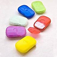 便利な洗濯手バス石鹸フレーク旅行のポータブル香りのスライスシートramdon色