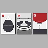 voordelige Prints-Afdrukken Op Opgespannen Doek Hedendaags, Drie panelen Kangas Vaakatasoinen panoraama Print Muurdecoratie Huisdecoratie