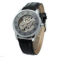 WINNER Pánské Dámské Hodinky na běžné nošení Módní hodinky Náramkové hodinky Automatické natahování Kůže Kapela Na běžné nošení Cool
