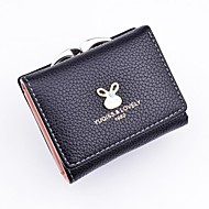 女性用 バッグ PU 財布 スパンコール グレー / パープル / フクシャ