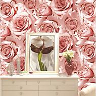 Blomstret Tapet til Hjemmet Moderne Tapetsering , U-vevet stoff Materiale selvklebende nødvendig bakgrunns , Tapet