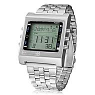 billige Kjoleur-Herre Digital Digital Watch / Armbåndsur Kinesisk Kalender / Kronograf / Vandafvisende / Sej / Selvlysende Rustfrit stål Bånd Afslappet /