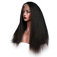 Kvinder Blondeparykker af menneskehår Brasiliansk Remy Halvblonder uden lim 130% 150% 180% Massefylde Med babyhår Kinky Glat Paryk Jet