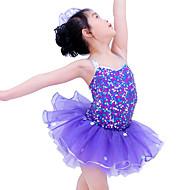 זול ביגוד ונעלי ריקוד-בגדי ריקוד לילדים שמלות בגדי ריקוד ילדים הופעה ספנדקס אלסטי אורגנזה נצנצים Paillette בלי שרוולים טבעי שמלות אביזרים לשיער