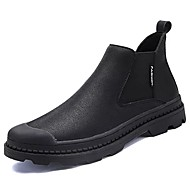 olcso -Férfi cipő PU Tél Kényelmes Divatos csizmák Csizmák Kompatibilitás Hétköznapi Fekete Khakizöld