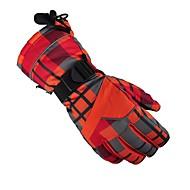 お買い得  手套-スキーグローブ 男女兼用 フルフィンガー 保温 防水 防風 高通気性 ナイロン スキー 冬