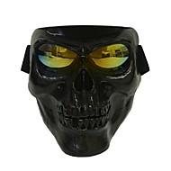 プラスチックハロウィン保護頭蓋骨スケルトンマスク屋外フルフェイス
