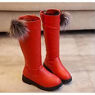 baratos Sapatos de Menina-Para Meninas Sapatos Courino Inverno Conforto / Botas de Neve Botas para Preto / Vermelho / Vinho