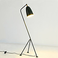 cheap Lamps-Metallic Artistic Simple Retro / Vintage Modern/Contemporary Mini Style Floor Lamp For Metal 110-120V 220-240V White Black