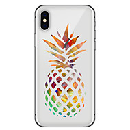 billiga Mobil cases & Skärmskydd-fodral Till Apple iPhone X iPhone 8 Plus Mönster Skal Frukt Mjukt TPU för iPhone X iPhone 8 Plus iPhone 8 iPhone 7 Plus iPhone 7 iPhone