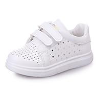 baratos Sapatos de Menina-Para Meninas Sapatos Couro Ecológico Outono / Inverno Conforto Tênis para Branco / Preto / Prata