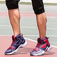 baratos -Masculino-Tênis-Conforto-Rasteiro-Azul Amarelo Verde Prateado Preto e Vermelho-Lona Couro-Ar-Livre Casual Para Esporte