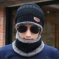 Herre Kontor Blød Hat - Bluse Strikket, Ensfarvet