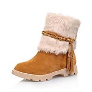 baratos Sapatos Femininos-Mulheres Sapatos Camurça Outono / Inverno Conforto / Inovador / Botas de Neve Botas Sem Salto Ponta Redonda Botas Curtas / Ankle /