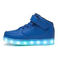 baratos Sapatos de Menino-Para Meninos Sapatos Couro Ecológico Outono / Inverno Solados com Luzes / Tênis com LED Tênis LED para Preto / Azul / Rosa claro