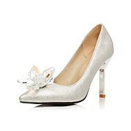 Mujer Zapatos PU microfibra sintético Primavera verano Pump Básico Tacones Paseo Tacón Stiletto Dedo Puntiagudo Negro / Amarillo 9IWqeQS7bu