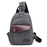 cheap Shoulder Bags-Unisex Bags Canvas Shoulder Bag Zipper for Casual All Season Khaki Coffee Gray Black