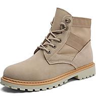 Χαμηλού Κόστους Ανδρικές μπότες-Ανδρικά Μπότες Μάχης Δέρμα Nubuck / Σουέτ Φθινόπωρο / Χειμώνας Ανατομικό / Κυματοειδής επένδυση Μπότες Μπότες στη Μέση της Γάμπας Ανοικτό Καφέ