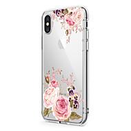 用途 iPhone X iPhone 8 ケース カバー 超薄型 クリア パターン バックカバー ケース フラワー ソフト TPU のために Apple iPhone X iPhone 8 Plus iPhone 8 iPhone 7プラス iPhone 7 iPhone