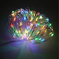Wasserdicht 100 LEDs 10M Lichterkette Warmes Weiß Kühles Weiß Rot Blau Gelb Grün Lila Dekorativ USB angetrieben