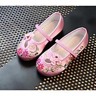baratos Sapatos de Menina-Para Meninas Sapatos Seda Primavera / Outono Conforto Rasos Caminhada Estampa Animal para Pêssego / Vermelho / Rosa claro