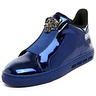 Masculino sapatos Borracha Primavera Outono Conforto Tênis Cadarço de Borracha para Preto Prata Azul