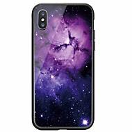 billiga Mobil cases & Skärmskydd-fodral Till Apple iPhone X / iPhone 8 Mönster Skal Himmel Hårt Härdat glas för iPhone X / iPhone 8 Plus / iPhone 8