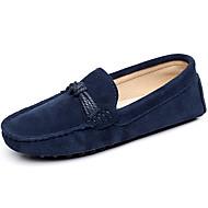 זול מוקסינים לנשים-בגדי ריקוד נשים נעליים עור אביב קיץ מוקסין נעליים ללא שרוכים עקב נמוך בוהן עגולה ל קזו'אל בָּחוּץ שחור כחול כהה