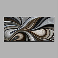 cheap Oil Paintings-Hand-Painted Abstract Horizontal, Modern Canvas Oil Painting Home Decoration One Panel