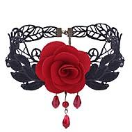 Γυναικεία Συνθετικό Αμέθυστο Κολιέ Τσόκερ Δαντέλα Λουλούδι κυρίες Γλυκός Μοντέρνα Μαύρο Κόκκινο Κολιέ Κοσμήματα 1 Για Καθημερινά Στολές Ηρώων