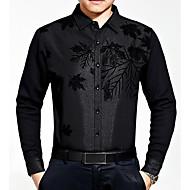 Majica Muške,Ulični šik Izlasci Ležerno/za svaki dan Print-Dugi rukav Kragna košulje-Sva doba Srednje Poliester