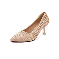 baratos Sapatos Femininos-Mulheres Couro Ecológico Primavera / Verão Saltos Salto Agulha Dedo Apontado Preto / Cinzento / Castanho Claro / 2-3