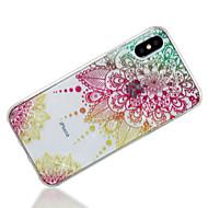 billiga Mobil cases & Skärmskydd-fodral Till Apple iPhone X / iPhone 8 IMD / Mönster Skal Mandala / Glittrig Mjukt TPU för iPhone X / iPhone 8 Plus / iPhone 8