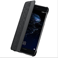 billiga Mobil cases & Skärmskydd-fodral Till Huawei P10 Plus P10 med fönster Lucka Auto Sömn/Uppvakning Fodral Ensfärgat Hårt Kolfiber för P10 Plus P10 Huawei