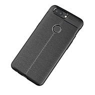 billiga Mobil cases & Skärmskydd-fodral Till OnePlus Ett plus 3 5 Frostat Läderplastik Skal Ensfärgat Mjukt TPU för One Plus 5 OnePlus 5T One Plus 3 One Plus 3T OnePlus