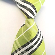 cheap Men's Accessories-Men's Polyester Necktie,Work Casual Striped All Seasons Green