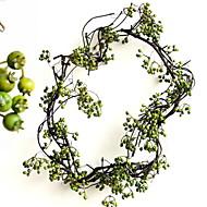 billige Kunstige blomster-1 Gren Polyester Plastikk Planter Bordblomst Kunstige blomster