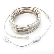 abordables -7m / 1pcs 220v 5050 a conduit noël lumière souple bande de corde de bande jardin extérieur étanche extérieur fiche eu