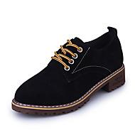 cheap Women's Oxfords-Women's Shoes PU Spring Summer Comfort Gladiator Light Soles Sandals Flat Heel Open Toe Rivet for Casual Dress Black Red Green