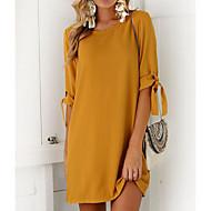 Kadın's Sokak Şıklığı Kombinezon Elbise - Solid, Fiyonklar Mini