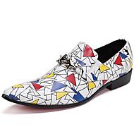 baratos Sapatos Masculinos-Homens Sapatos formais Pele Napa Primavera / Outono Conforto Mocassins e Slip-Ons Branco / Festas & Noite
